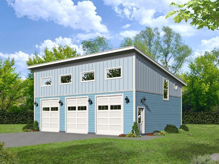 062g 0203 Modern Rv Garage Plan In 2020 Modern Garage Garage Plan Garage Plans