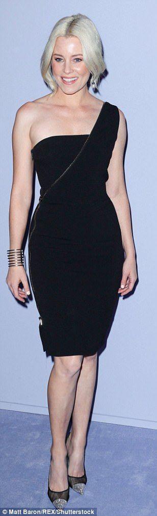 Chic: Gina Gershon (l), Elizabeth Banks (c), Julia Restoin Roitfeld (r) wowed in their black dresses
