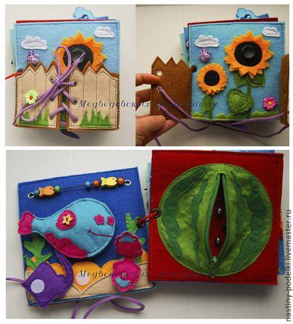 Развивающие игрушки ручной работы. Ярмарка Мастеров - ручная работа Развивающая книжка из фетра. Handmade.