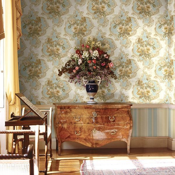 Chesapeake Southern Charm Navy Pineapple Wallpaper-3113-12091 ...