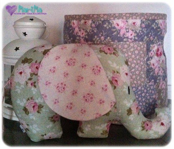 Текстильные: буквы - подушки, аксессуары и игрушки: Вот такой вот слоник для Машеньки