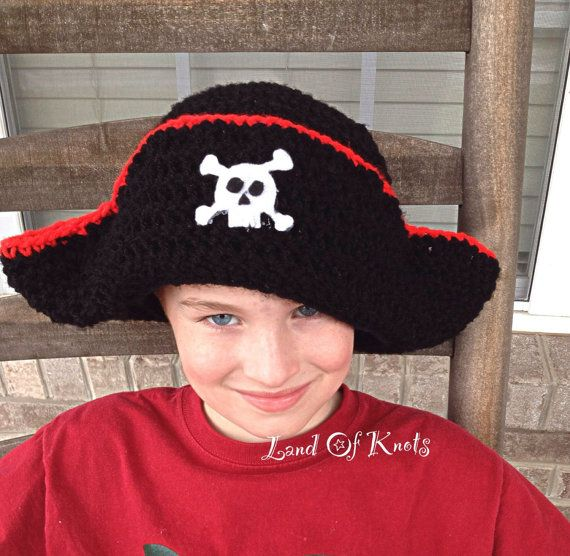Hey, I found this really awesome Etsy listing at https://www.etsy.com/uk/listing/226839065/crochet-pirate-hat-pirate-hat-with-skull