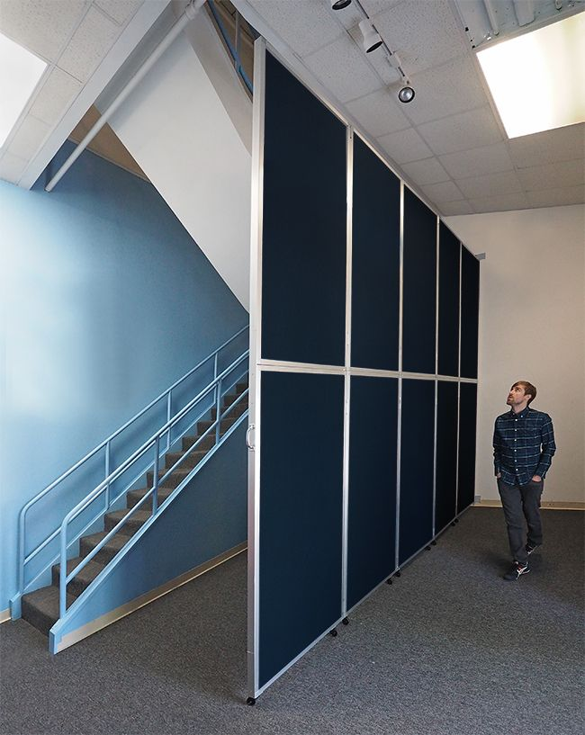 Our Operable Wall is a large heavy-duty tall room ider that covers up to Perfect replacement for outdated accordion doors. & 41 best Wall-Mounted Partitions images on Pinterest | Sliding room ... pezcame.com