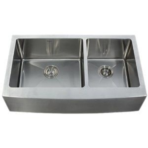 Kraus KHF203-36 36-Inch Farmhouse Apron 70/30 Double Bowl 16 gauge Kitchen Sink, Stainless Steel: Double Bowls, Farmhouse Aprons, Stainless Steel Kitchens, Bowls 16, 60 40 Double, Inch Farmhouse, 36 Inch, 16 Gauges, Kitchens Sinks