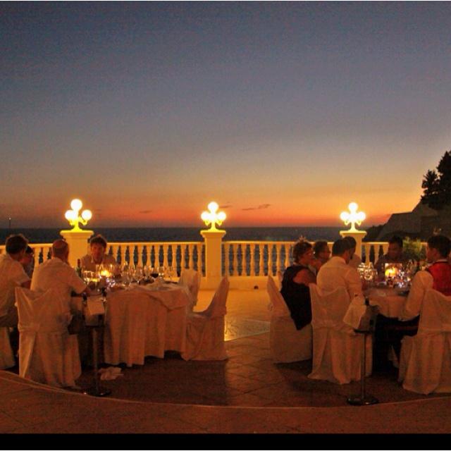Cas Mila Wedding Venue at night