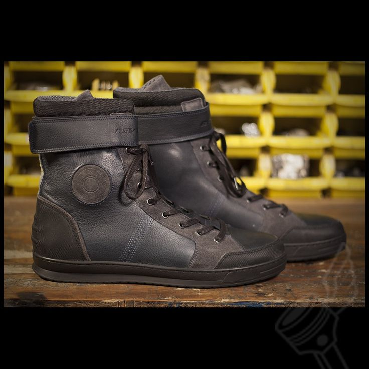 Blue REV'IT! Fairfax Motorcycle Riding Shoes