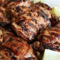 Rusty Chicken Thighs | Perfect on the grill, but just as good cooked under the broiler. It's the marinade that makes the difference.