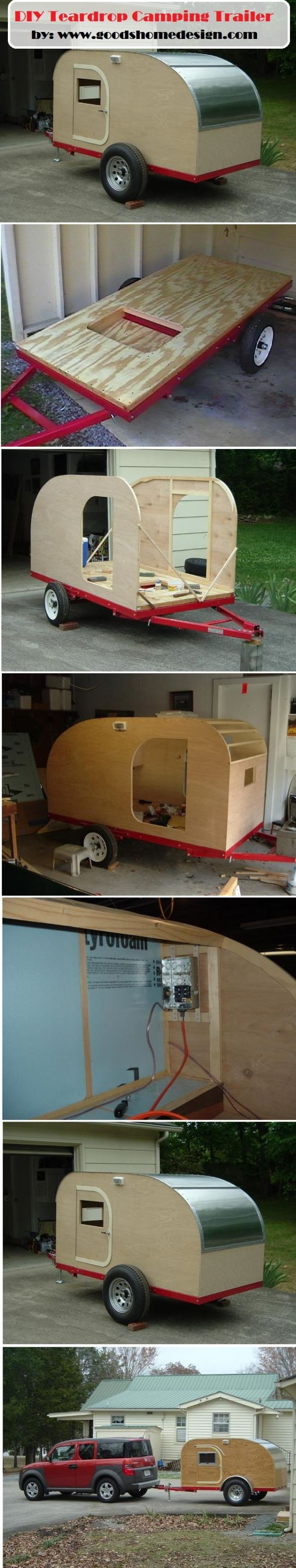 DIY Teardrop Camping Trailer by maryj1909