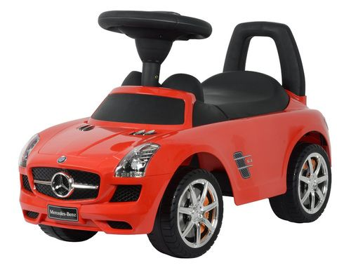 Give your child an unforgettable childhood experience with this OFFICIALLY LICENSED Mercedes Benz Push Car. The kid-friendly style, durable plastic design, and bold colors of the Mercedes Benz Push Car make it an irresistible, safe, and fun toy for your little ones. It also enhances your child's motor skills. Push car helps in teaching coordination between arms, hands, and feet as they try to control the steering wheel and push themselves to go in the direction they want.