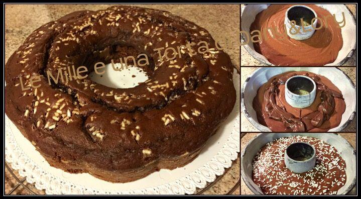 CIAMBELLONE SOFFICISSIMO CON CUORE DI NUTELLA Altra torta golosa, questa volta l'ho preparata per mio figlio ed i suoi compagni di classe, da portare