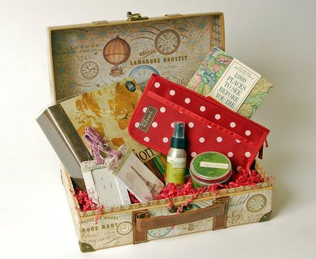 Trave themed gift basket idea. From Thoughtful Presence.