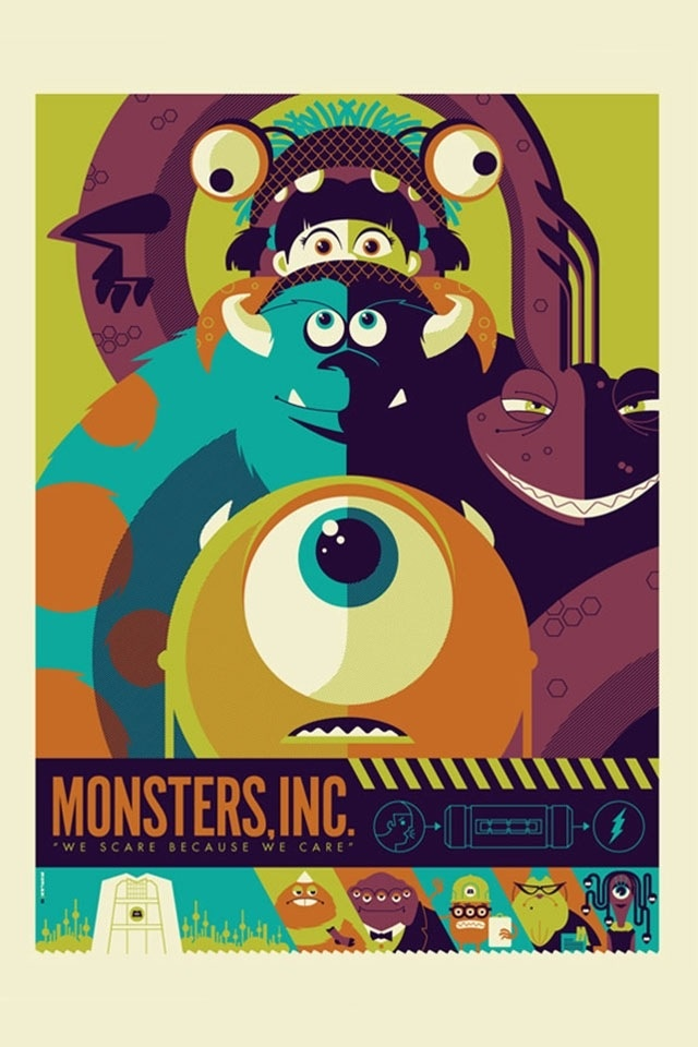 Monsters Inc. ~ Minimalist movie poster