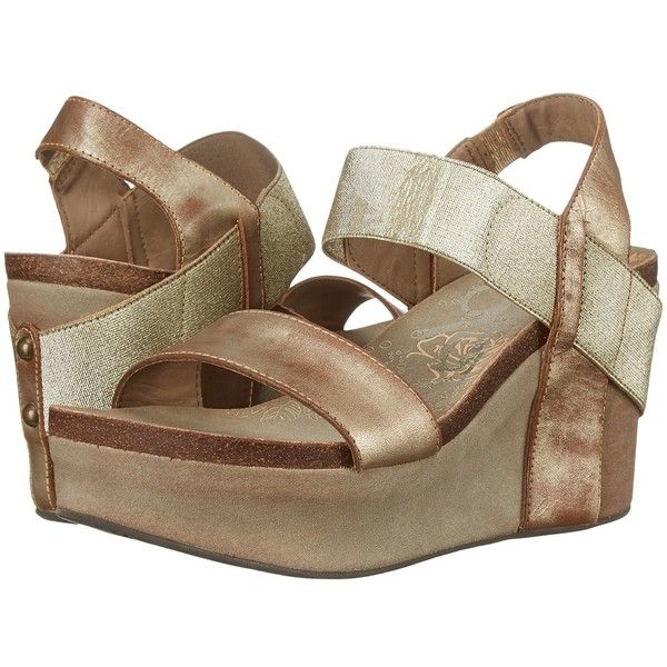 OTBT Bushnell Women's Wedge Shoes ($125) ❤ liked on Polyvore featuring shoes, leather platform shoes, fleece-lined shoes, stretchy shoes, wedge heel shoes and platform slip on shoes