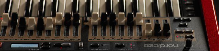 Nord C2D Dengan 2 set drawbar fisik per manual, sebuah simulasi yang sangat realistis dari B3 tone wheel, Vox & Farfisa transistor organ dan sebuah sample baroque pipe organ yang sangat menawan, Nord C2D terbaru adalah solusi utama untuk portable organ.