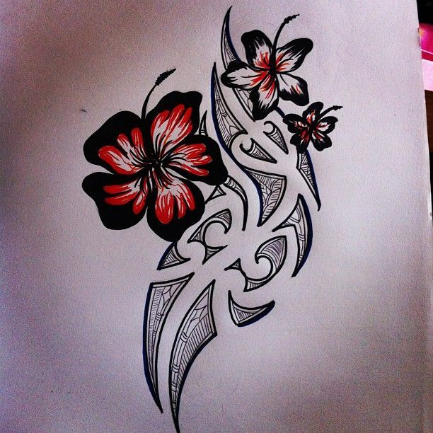 21 best polynesian tattoos images on pinterest polynesian tattoo im not one for flower tattoos but i love the way these flowers look gumiabroncs Image collections