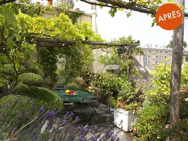 Amenager Un Jardin Sur Un Toit D Immeuble A Saint Germain Des Pres Apres