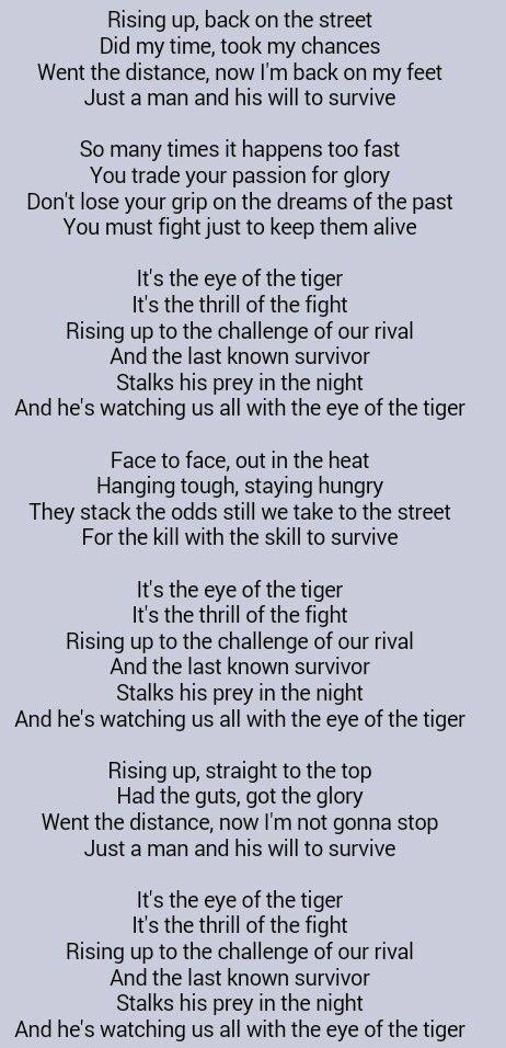 Survivor - Eye Of The Tiger (Chords) - Ultimate-Guitar.Com
