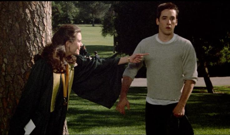 """# 7. The opposite of #photobomb is #stalkie, according to the Urban Dictionary.  The earliest #stalkie I remember seeing is here, from the 1989 Gen X rom-com """"Say Anything."""" Here, Lloyd tries to get a graduation-day shot with his secret love, the idyllic Diane Court.  Of course this speaks to the desire to inflate one's sense of self-worth via close relation to another of perceived higher status.  But isn't the motiviation so darn romantic, especially when ya think of how the movie ended?"""