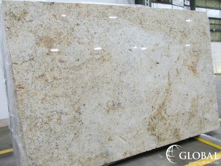 Colonial Gold polished granite slab. Visit globalgranite.com for your natural stone needs.