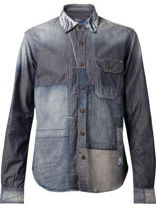 Prps Goods And Co. Patchwork Denim Shirt - American Rag - Farfetch.com
