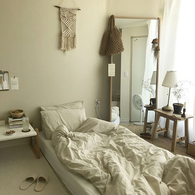 6 Creative Tips On How To Make A Small Bedroom Look Larger Dream Bedrooms House Interior Minimalist Bedroom Minimalist Room