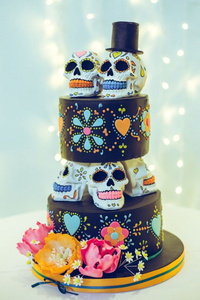 Mexican Day of the Dead Wedding on Halloween (91)