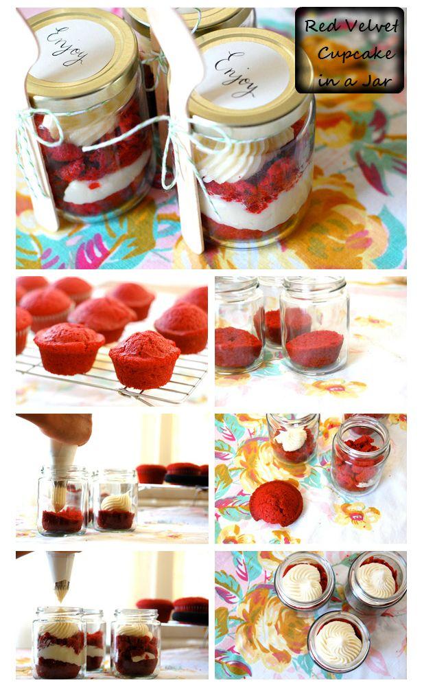 Red Velvet Cupcake in a Jar