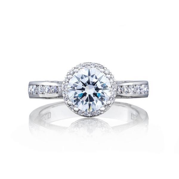 18 Karat White Gold Tacori Dantela Semi-Mount Diamond Engagement Ring (Setting Only)