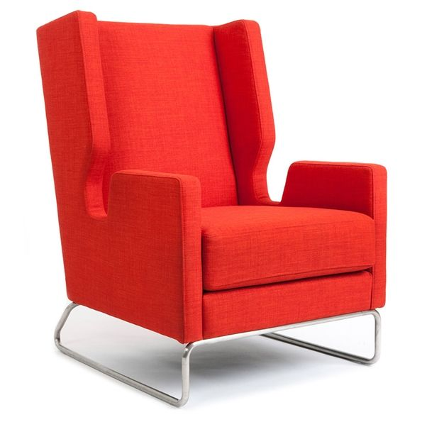 danforth contemporary lounge chair in laurentian sunset modern wingback bright colorful chair modern furniture