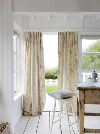 Cabbages and Roses -  Cabbages and Roses Fabric Collection - Cabbages and Roses neutral roman blind and curtain