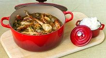 Seafood Gumbo - Gumbo is a soupy stew from the southern USA state of Louisiana, where the cuisine is a melting pot of Cajun (descendants of the French expelled from what is now eastern Canada in the mid-1700s), Creole (descendants of French and Spanish settlers), African and native American influences. Gumbo features in both Creole and Cajun cooking and has been named the 'official cuisine' of Louisiana (great pic Franz Scheurer!)