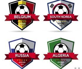 Творческий футбол векторный набор наклеек 04