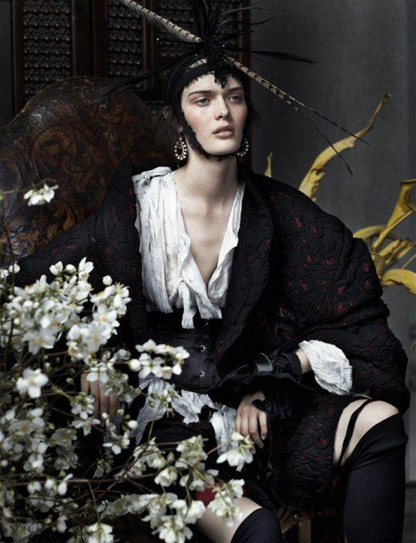 UK Vogue December 2013 | Anna Ewers, Ashleigh Good & Sam Rollinson by Josh Olins