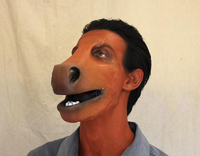 Horrifying Donkey Muzzle Prosthetic Mask ~ www.popgive.com ...