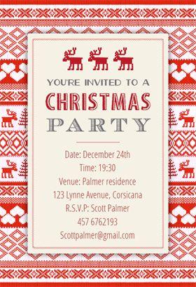 christmas invite template
