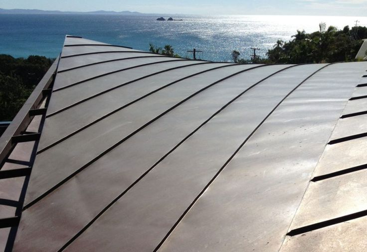 Byron Bay 2 Residence NSW Copper roof and soffit cladding with custom tapered gutters. Copper classic.