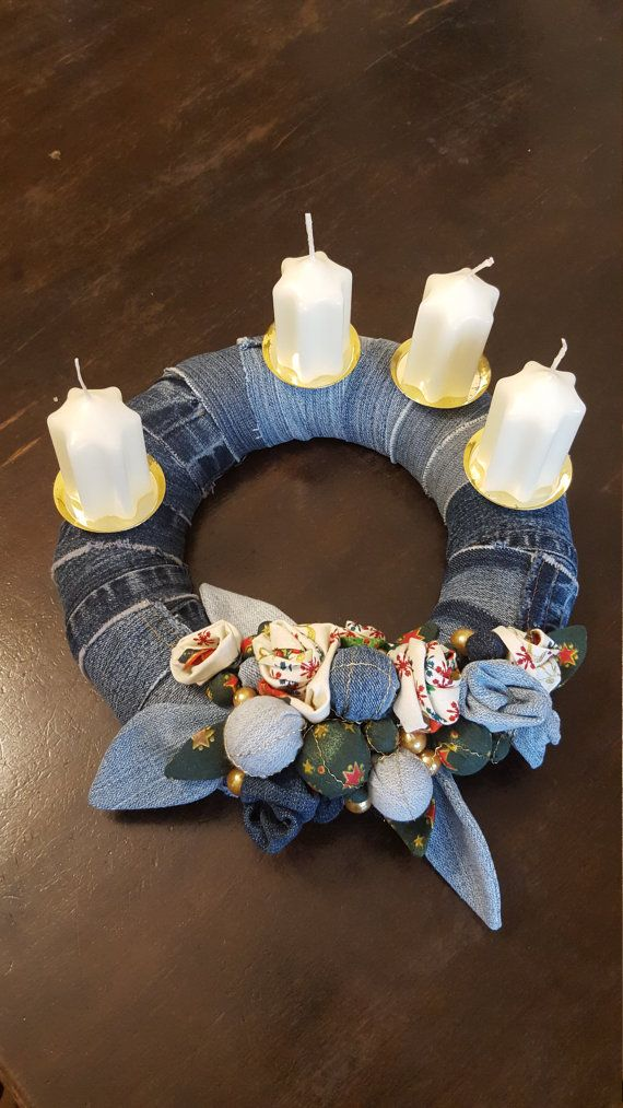 ... made of jeans | Denim | Pinterest | Advent Wreaths, Advent and Wreaths