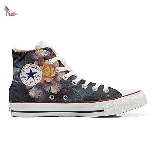 Converse Customized Chaussures Personnalisé et imprimés UNISEX (produit  artisanal) Infinity fleurs - size EU42