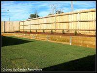 Timber Retaining Wall, garden bed. Landscaper Pakenham - Ground Up Garden Renovators www.gardenrenovators.com.au