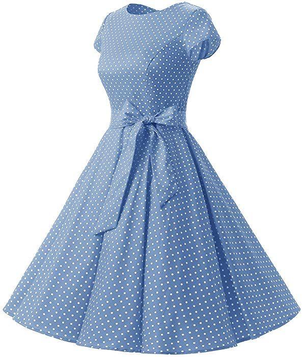 74829656dd Amazon.com: Dressystar DS1956 Women Vintage 1950s Retro Rockabilly Prom  Dresses Cap-Sleeve XS Army Green: Clothing