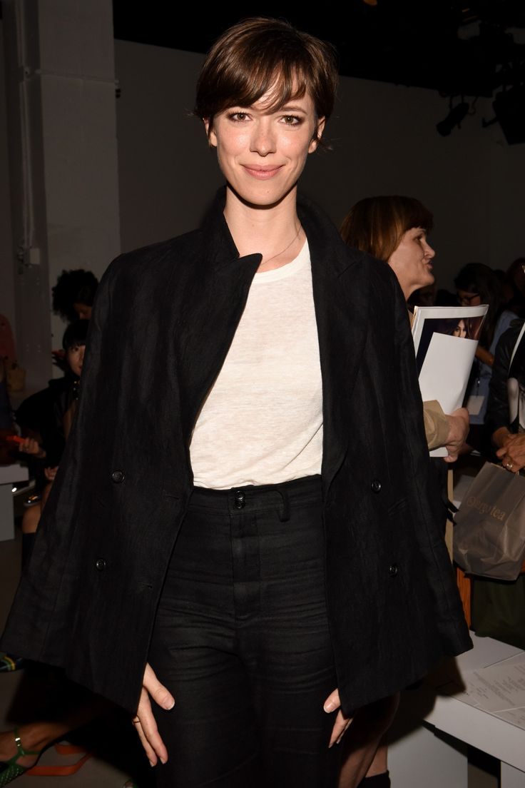 The Front Row Look of the Day: Rebecca Hall's Hybrid Pixie ...