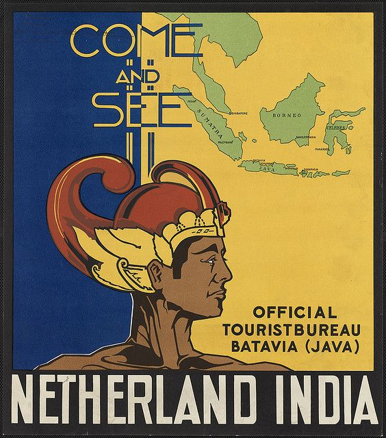 Vintage Travel Poster - Batavia (Java) - Come and see Netherlands India - (Indonesia now)..