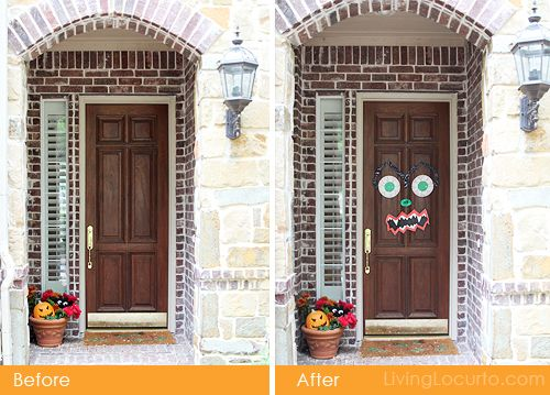 Easy #Halloween Monster Door Craft Idea to do with Kids.