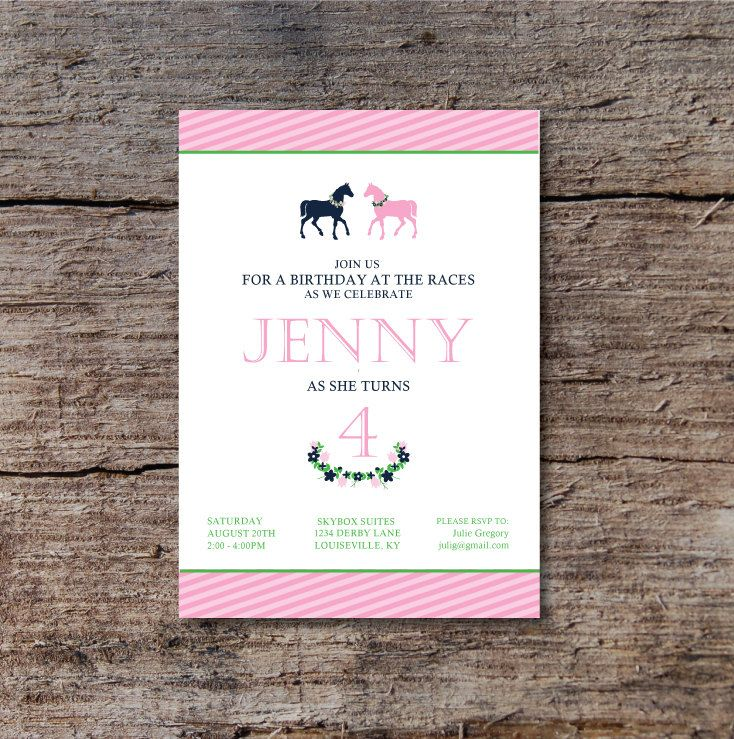 printable horse birthday party invitations free%0A Derby Birthday Party Invitation Horse Birthday Party Invite Polo Birthday  Party Invitation by CrowningDetails