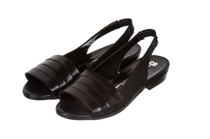 black flat sandals - fiorifrancesi