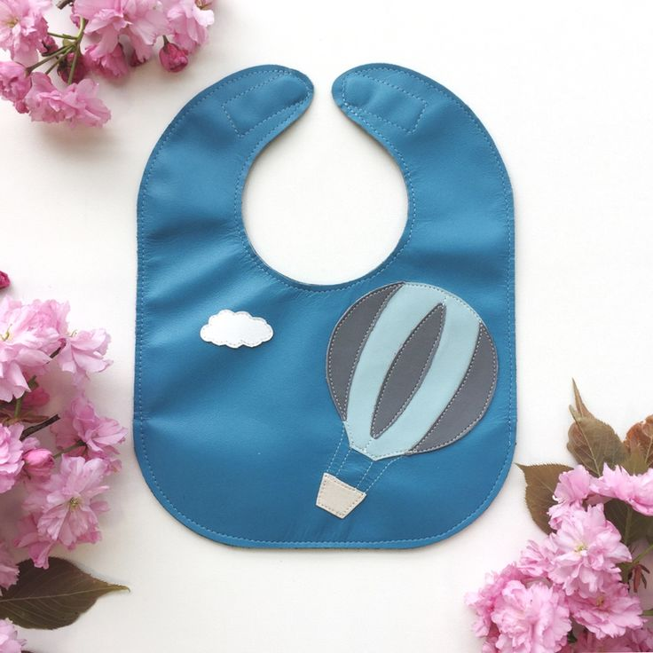 Cuuuute! Hot Air Balloon Leather Bib