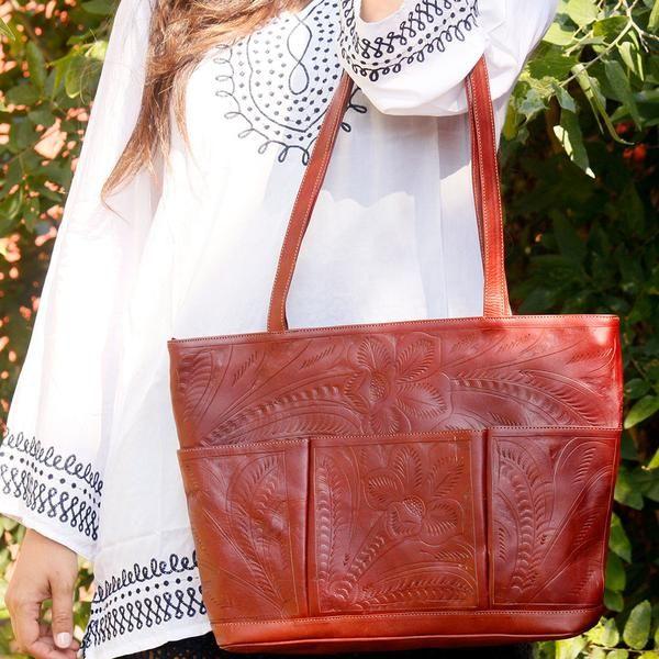 Catalina Cognac Ll1143 Made In Austin Texas Leaders Leather Handbags