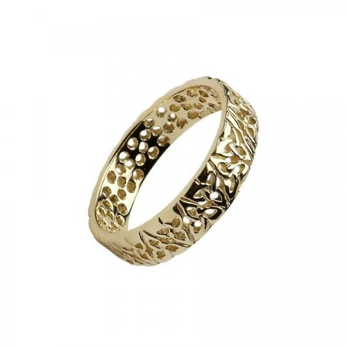 Shores of Amerikay Trinity Knot Ring-14K Gold