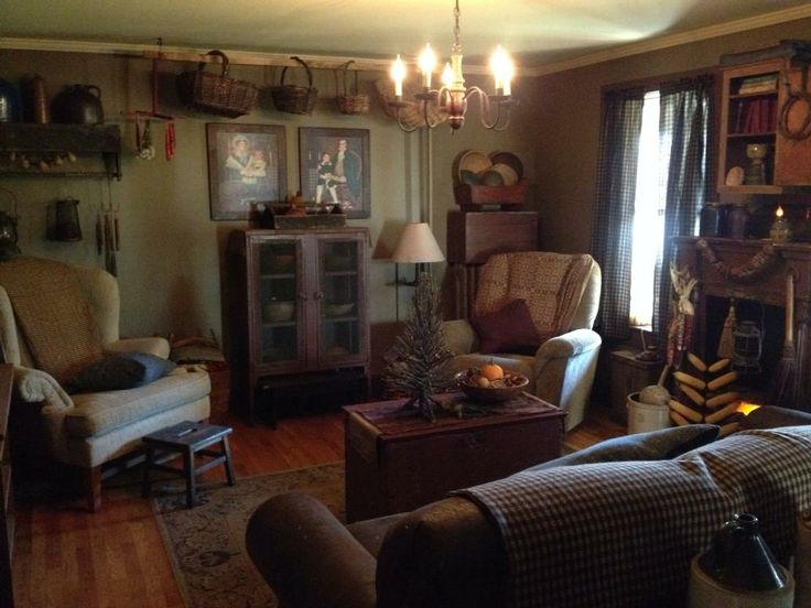 10 Best Images About Country Living Room On Pinterest Primitive Living Room Fireplaces And