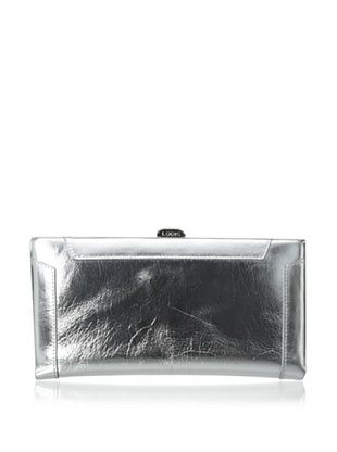 58% OFF LODIS Women's Pico Boulevard Quinn Clutch Wallet, Chrome